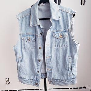 American Apparel Light Blue Denim Vest